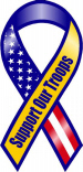 "8"" Support Our troops R/W/B/ yellow"