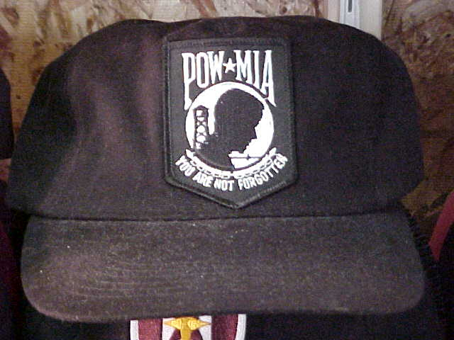 POW/MIA Med Patch on Hat