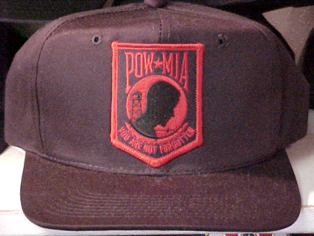 POW Hat Red Patch