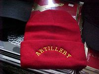 100% Acrylic beanie cuff knits -Red Artillery