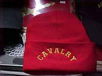 100% Acrylic beanie cuff knits -Red Cavalry